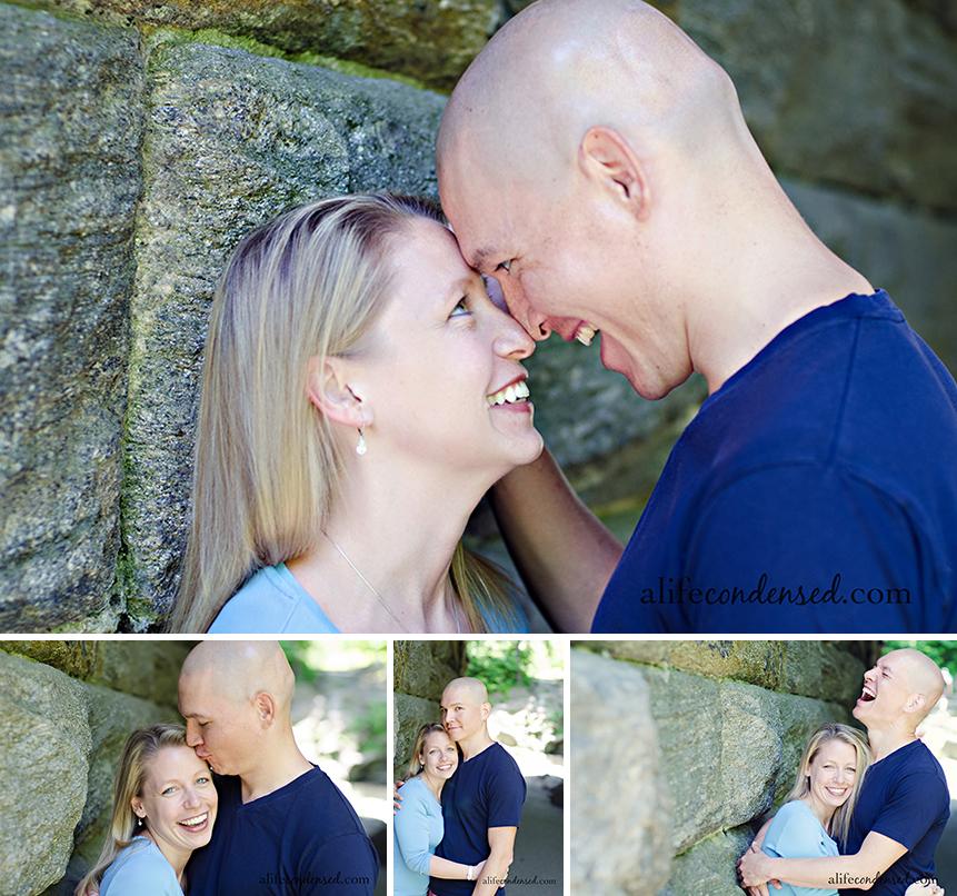 Fun Couple Under Bridge :: New York City, NY Couple Photographer