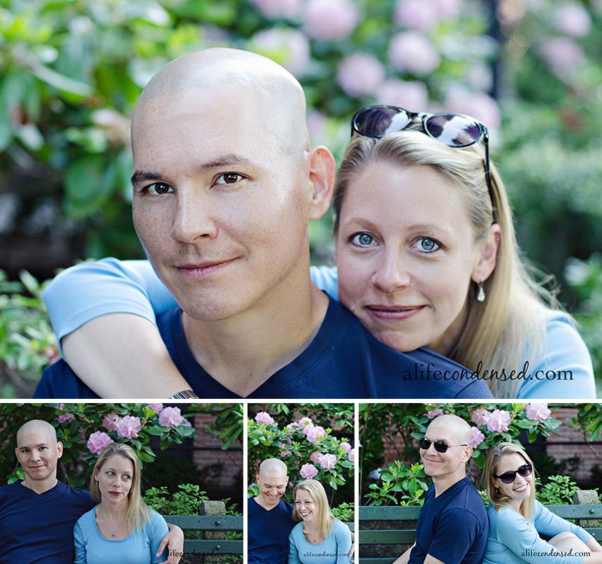 Sweet Couple with Flowers :: New York City, NY Couple Photographer