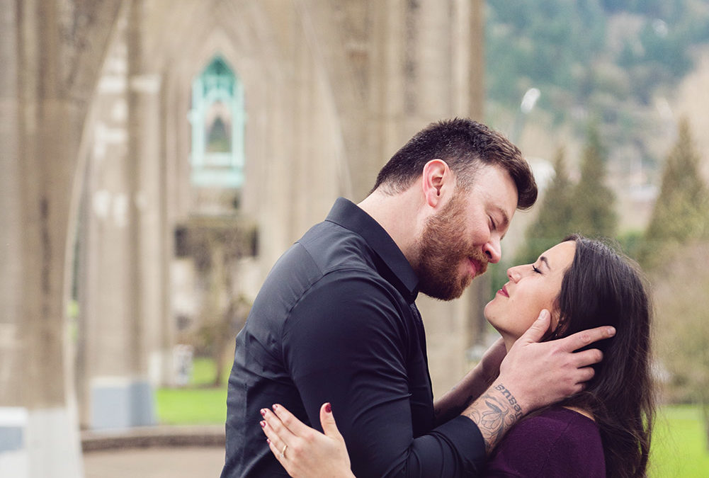 Love In Cathedral Park :: Portland, Oregon Proposal Photographer